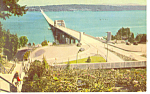 Click here to enlarge image and see more about item p18411: Lake Washington Bridge, Seattle WA Postcard 1947