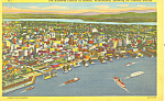Seattle and Harbor,WA Postcard 1957
