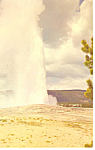 Click here to enlarge image and see more about item p18442: Old Faithful, Yellowstone National Park WY Postcard