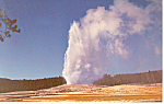 Old Faithful Geyser Yellowstone National Park WY Pcard