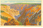 Grand Canyon Yellowstone National Park WY Postcard p18466