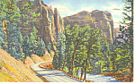 The Palisades Upper Shoshone Canyon WY Postcard p18467