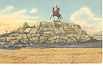 Click here to enlarge image and see more about item p18470: Buffalo Bill Monument, Cody WY Postcard