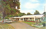 The Oaks Motel, Deland,FL Postcard Cars 60s