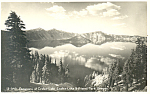 Panorama Crater Lake National Park Oregon RPPC p18501