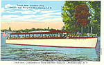 Uncle Sam Boat  Alexandria Bay  NY Postcard p18509