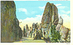Needles Highway Black Hills SD Postcard p18534