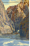 Bottom of Royal Gorge, CO Postcard