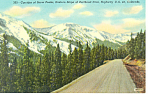 Click here to enlarge image and see more about item p18538: Corridor of Snow Peaks,Berthoud Pass, CO Postcard