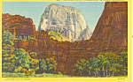 Great White Throne,Zion National Park, UT Postcard