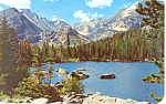 Bear Lake Rocky Mountain National Park CO Postcard p18545