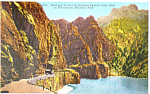 Shoshone Canyon Yellowstone National Park WY Postcard p18551