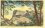 Click here to enlarge image and see more about item p18555: Mt Rushmore Black Hills SD Postcard p18555