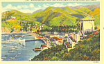 Click here to enlarge image and see more about item p18572: Avalon and Bay, Catalina Island, CA  Postcard