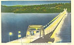 Lake Washington Bridge Seattle WA Postcard p18577
