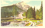 Click here to enlarge image and see more about item p18587: Cascade Mountain Banff National Park Canada Postcard p18587