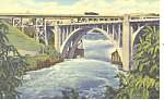 Monroe Street Bridge, Spokane, WA Postcard