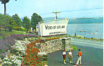 Entrance Word of Life Inn Schroon Lake NY Postcard p18591