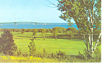 Mackinac Straits Bridge,Mackinac Island, MI  Postcard