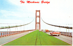Mackinac Bridge,Mackinac Island, MI  Pcard Cars 50s