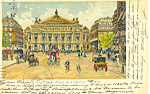 Paris France Place de l'Opera Postcard 1900