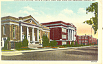 ME Church and School Fremont NE Postcard p18646 1956