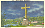Cross at Night Lake Junaluska NC Postcard p18647