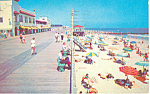 Boardwalk Beach View,Ocean City, NJ Postcard 1960