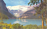 Click here to enlarge image and see more about item p18675: Lake Louise & Victoria Glacier Postcard 1971