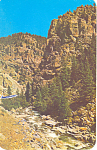 Click here to enlarge image and see more about item p18686: Boulder Canon Highway, CO Postcard 1961