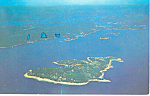 Aerial of Squirrel Island, Maine Postcard