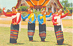 Fan-Lep Dance, Chiengmai, Thailand Postcard