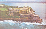 Click here to enlarge image and see more about item p18716: Fortress El Morro, Puerto Rico Postcard 1971