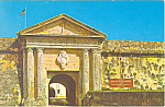 Click here to enlarge image and see more about item p18719: Fortress El Morro, Puerto Rico Postcard 1969