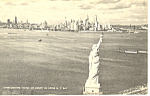 Overlooking The Statue Of Liberty New York Postcard p18727