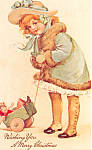 My Dolly & I wish you a Merry Christmas Postcard p18752