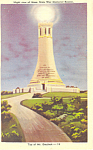 War Memorial, Mt Greylock, Massachusetts Postcard
