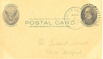 Click to view larger image of UX18  1 Cent McKinley in Oval Postal Card (Image1)