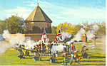Click here to enlarge image and see more about item p18782: Colonial Militia,Williamsburg, VA Postcard