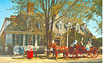 Raleigh Tavern Williamsburg VA Postcard p18786