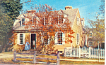 Click here to enlarge image and see more about item p18788: Brush-Everard House,Williamsburg, VA Postcard