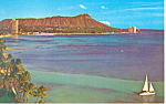 Click here to enlarge image and see more about item p18832: Diamond Head Oahu Hawaii