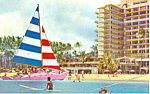 Click here to enlarge image and see more about item p18834: Catamaran Hilton Hawaiian Village, Wakiki Hawaii