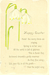 Happy Easter Hark the Birds are Singing Postcard p18847