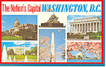 Click here to enlarge image and see more about item p18921: Washington DC Six Views