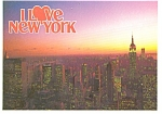 New York City Empire State at Dusk Postcard