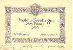 Easter Greetings from France Postcard p18993 1919