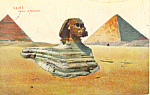 Click here to enlarge image and see more about item p18996: Egypt  Sphinz et Pyramides p18996