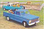 Click here to enlarge image and see more about item p19002: 1968 Ford Pickups  Postcard p19002