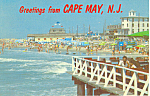 Beach Scene at Cape May, NJ  Postcard